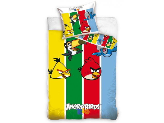 Dětské povlečení Angry Birds Stripes