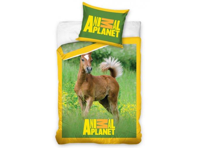 Bavlněné povlečení Animal Planet Koník