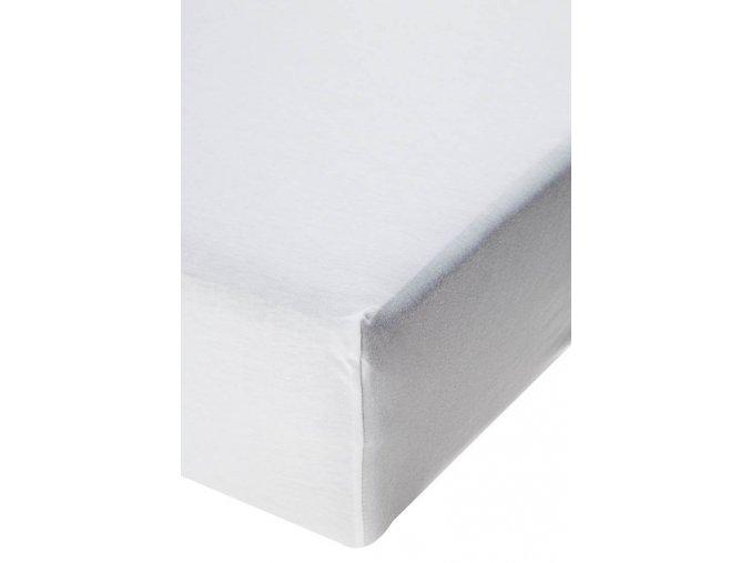 Jersey prostěradlo s elastanem Bílé