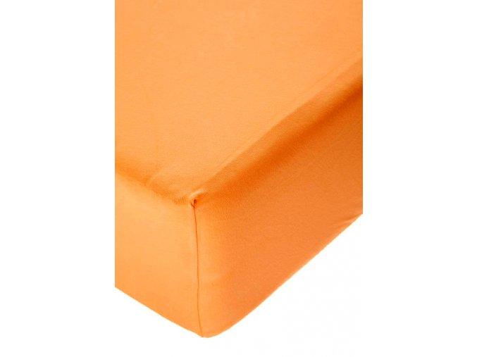Jersey prostěradlo s elastanem Pomerančové