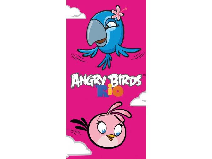 Dětská osuška Angry Birds Pink