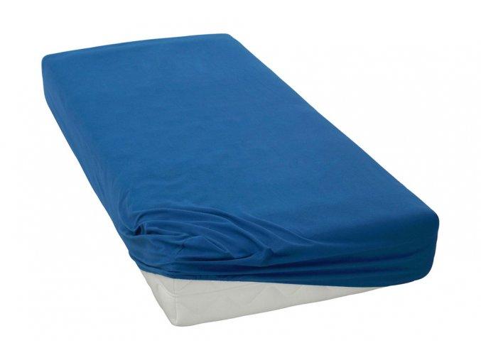 Jersey prostěradlo Tmavě modré BedTex