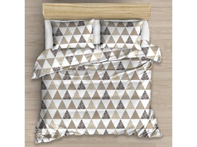 Bavlnene povleceni Triangle Bezove 220x200