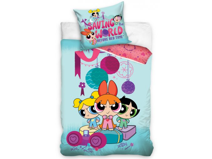 Detske povleceni Powerpuff Girls Blue 161003
