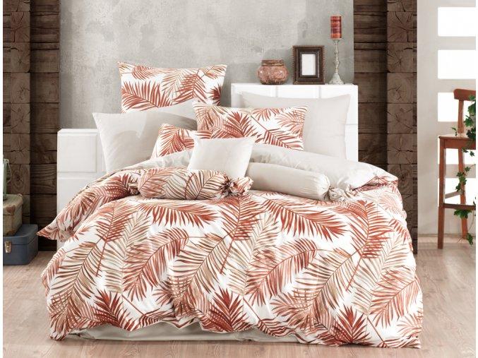Bavlnene povleceni Palms Hnede BedTex