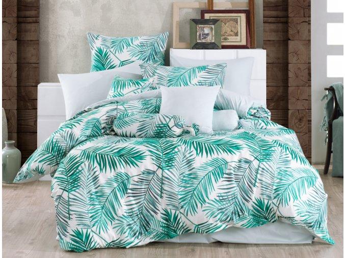 Bavlnene povleceni Palms Zelene BedTex