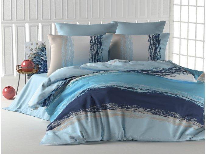 Bavlnene povleceni Thick Line Modre BedTex