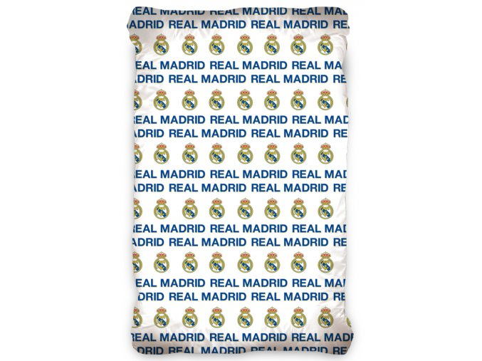 Fotbalove prosteradlo Real Madrid Bile