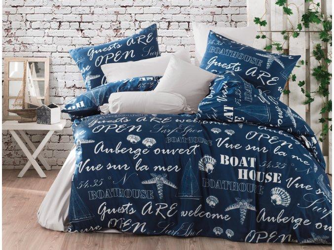 Bavlnene povleceni Boat House Modre BedTex