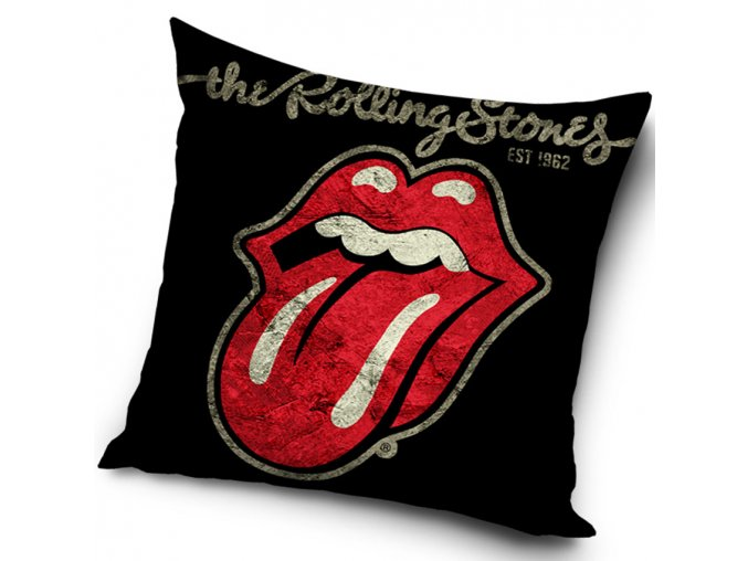 Povlak na polstarek 45x45 Rolling Stones Black