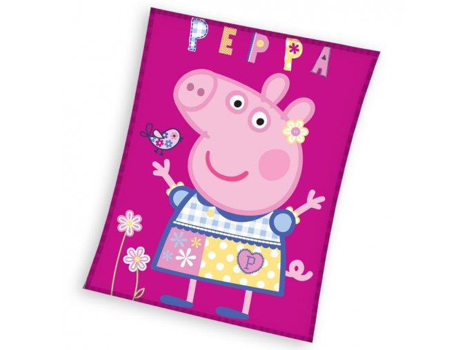 Detska deka Prasatko Peppa Modelka 110x140
