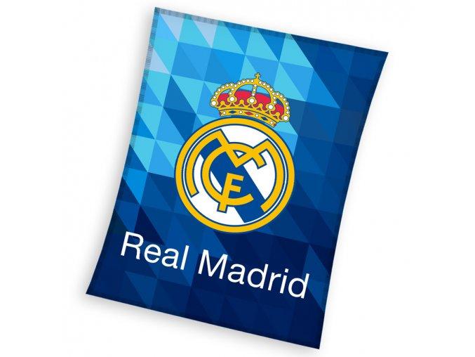 Fotbalova deka Real Madrid Blue Crystal 150x200