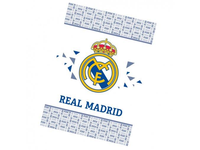Fotbalova deka Real Madrid White 100x140 RM191065