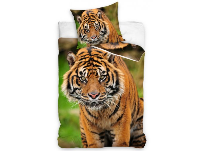 Bavlnene povleceni Tygr Indicky