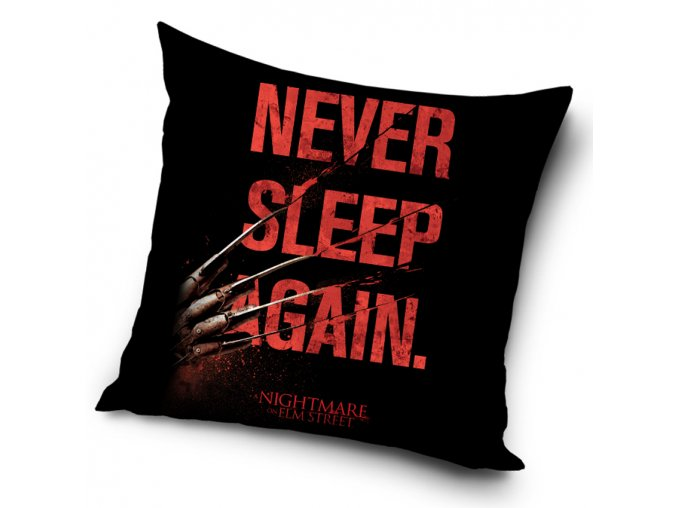 Dekoracni polstarek Nightmare Elm Street Never Sleep Again