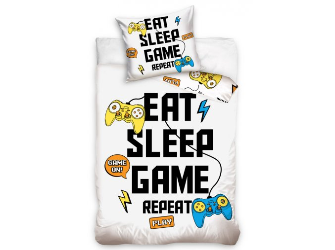 Bavlnene povleceni Eat Sleep Game Repeat
