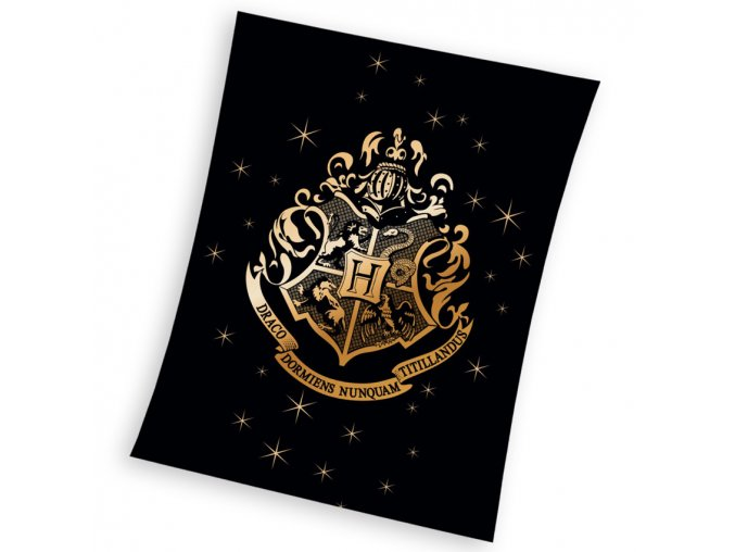 Detska deka Harry Potter Erb Bradavic Gold 150x200