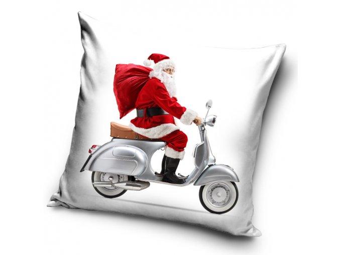Vanocni polstarek Santa na Vespe povlak