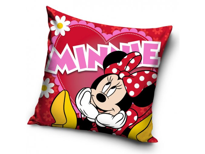 povlak na polstarek Minnie Big Heart 40x40 cm