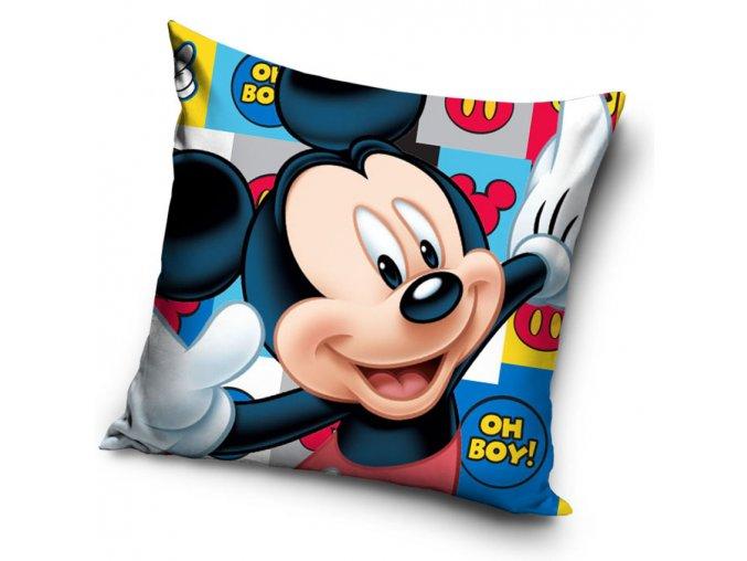 Detsky polstarek Mickey Mouse Oh Boy 40x40 cm