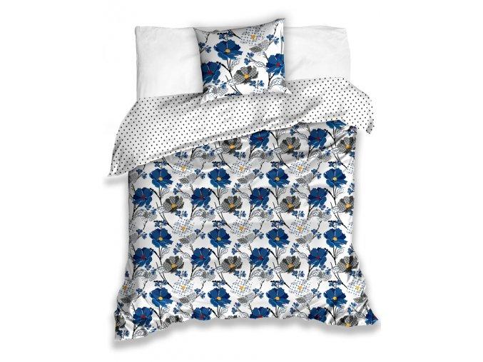 Bavlnene povleceni Flor Modre