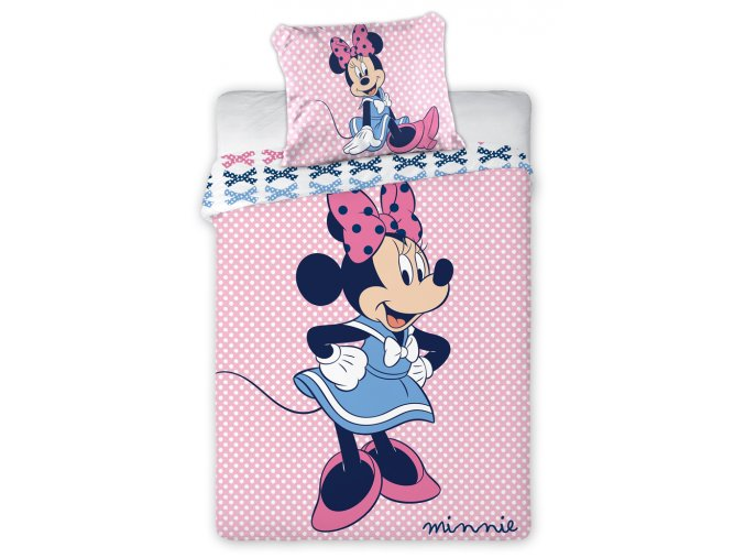Povleceni do postylky Minnie S Puntiky