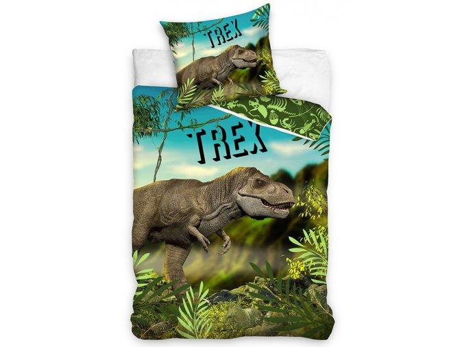 Bavlnene povleceni T Rex v pralese