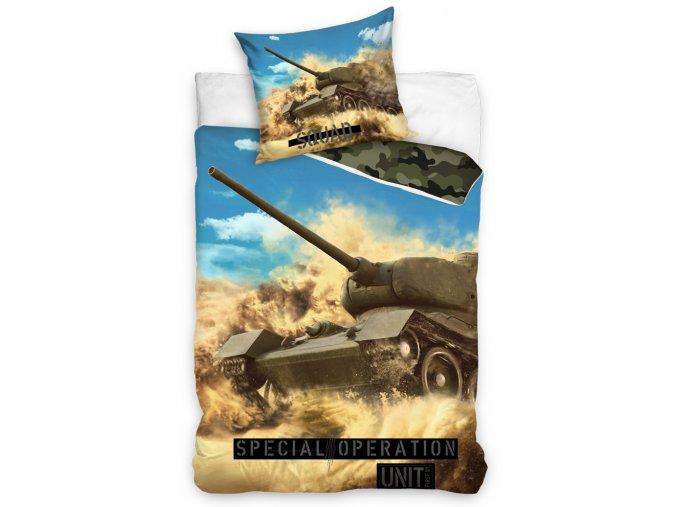 Bavlnene povleceni Tank Specialni Operace 140x200 + 70x90 cm