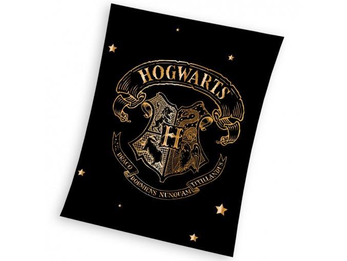 Detska deka Harry Potter Zlaty Erb Bradavic 150x200