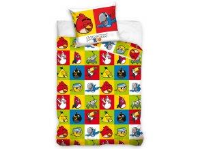 Dětské povlečení Angry Birds Šachovnice