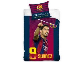 Fotbalové povlečení FC Barcelona Suárez  140x200+70x80 cm + Prostěradlo 90x200 cm ZDARMA