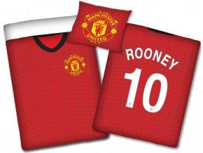 Fotbalové povlečení Manchester United Dres č.10 Roony