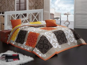 Přehoz Sedef Oranžový - 220x240 + 2x 40x40 cm