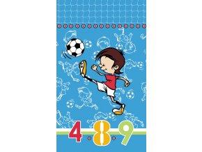 Dětská osuška Fotbal - modrá
