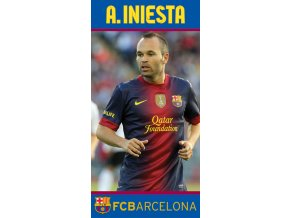 Fotbalová osuška FC Barcelona Iniesta