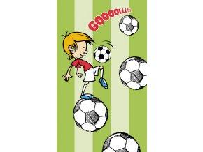 Dětská osuška Fotbal - zelená