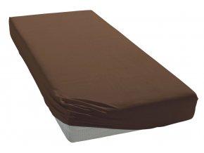 Jersey prostěradlo Čokoládové BedTex