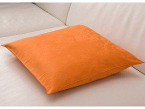Dekorační polštářek Italský damašek - Oranžový