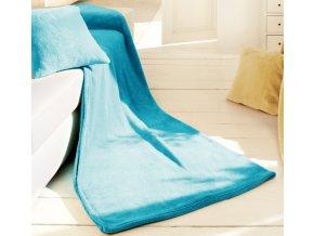 Set deka a polštář King Fleece - Tyrkysová