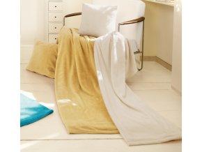 Set deka a polštář King Fleece - Béžová