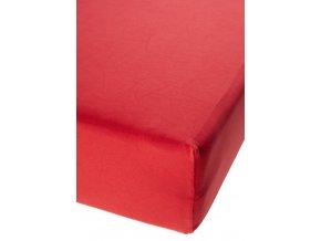 Jersey prostěradlo s elastanem Červené