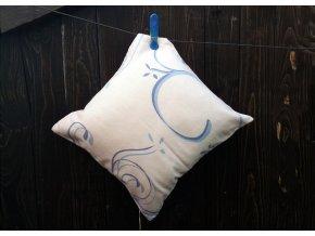 Flanelový povlak na polštářek Nadja Modrý