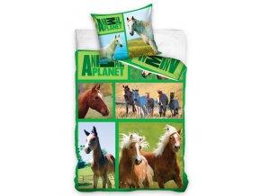 Bavlněné povlečení Animal Planet - Koně na louce