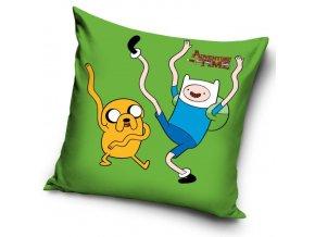 Povlak na polštářek Adventure Time - Zelený