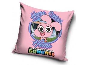 Povlak na polštářek Gumballův svět - Růžový