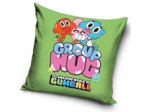 Povlak na polštářek Gumballův svět - Zelený