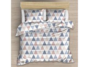 Bavlnene povleceni Triangle Modre 220x200