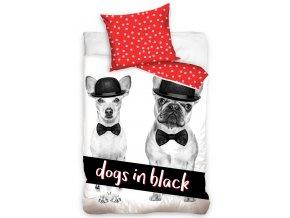 Detske povleceni Dogs in Black