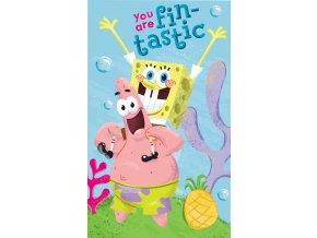 Detsky rucnik Sponge Bob 30x50cm 163038