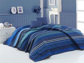 Prehoz na postel Marley modry BedTex